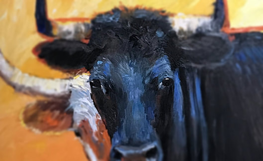 Cow painting for sale, oil paintings of cows, original oil painting, awesome painting,